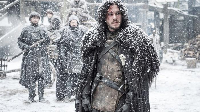 men, Game of Thrones, snow, Jon Snow, Kit Harington, actor