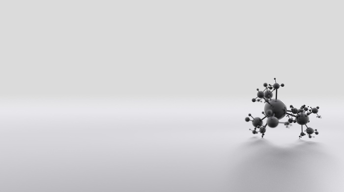 minimalism, 3D, abstract, ball, simple background, monochrome, digital art, sphere, CGI, atoms