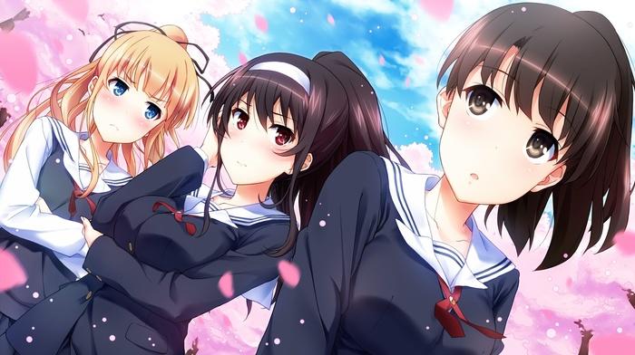 anime girls, anime, school uniform, Sawamura Eriri Spencer, Saenai Heroine no Sodatekata, Kasumigaoka Utaha, Megumi Katou