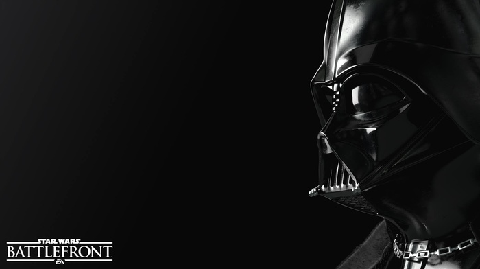 Darth Vader, simple background, black, Star Wars Battlefront, Star Wars, Sith, Galactic Empire, dark