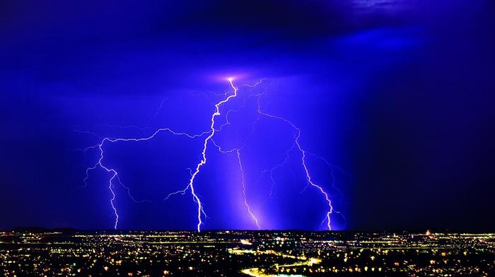 storm, lightning, nature, landscape