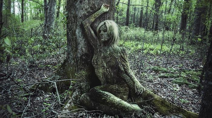 nature, eyes, landscape, optical camouflage, girl, gray eyes