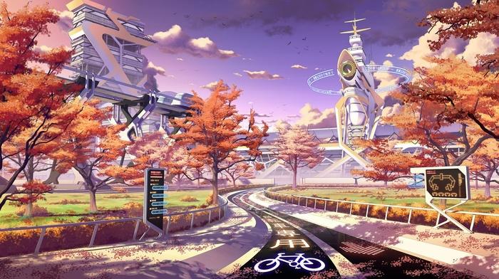 Culture Japan, futuristic, Japan, fall, sunset, seasons