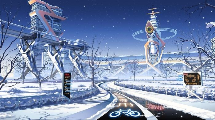 Japan, futuristic, winter, Culture Japan, seasons