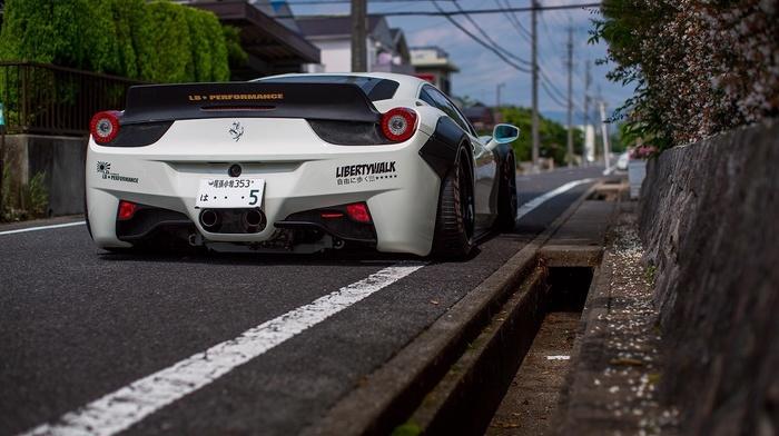 car, Liberty Walk, widebody, Ferrari, ferrari 458, LB Performance, Ferrari 458 Italia