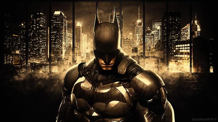 Batman, DC Comics, Gotham, Batman Arkham Knight, cityscape, skyscraper, Gotham City, comics, concept art