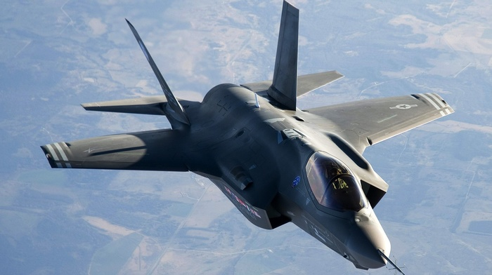 military aircraft, lightning, US Air Force, Lockheed Martin F, 35 Lightning II