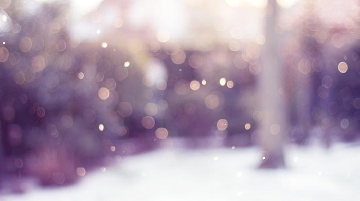 circle, blurred, bokeh, snow, lights