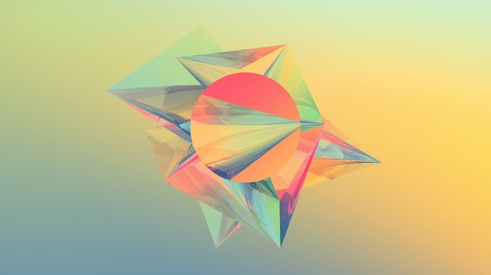 Justin Maller, digital art, geometry