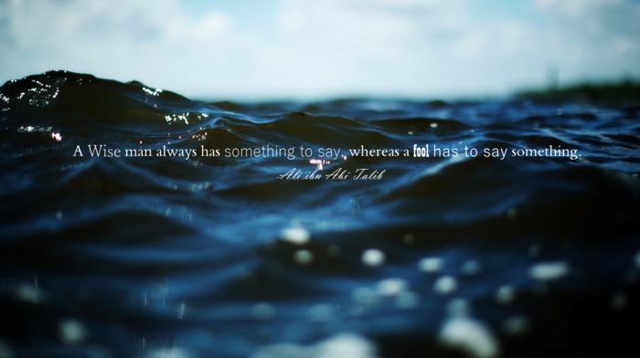 sea, Imam, quote, water, sky, Ali ibn Abi Talib, nature, Islam