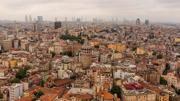 building, Galata Kulesi, cityscape, city, galata, Istanbul, Turkey