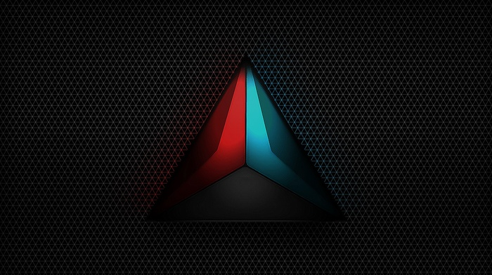 minimalism, pattern, gray, triangle, logo, dark
