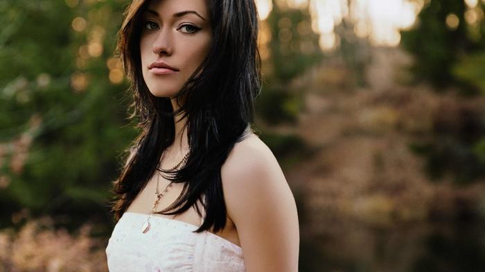girl, Olivia Wilde, girl outdoors, brunette