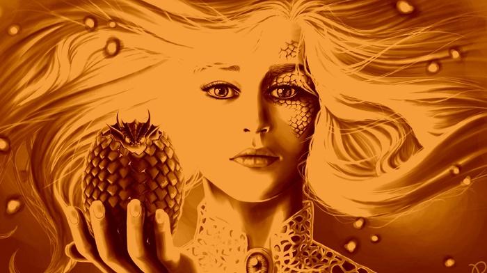 Daenerys Targaryen, artwork, dragon, Game of Thrones