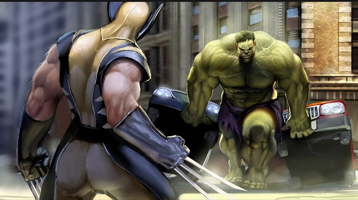 Marvel Comics, Hulk, Superman, Wolverine