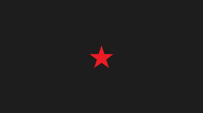 black background, simple background, stars, minimalism, red, simple, digital art, red star