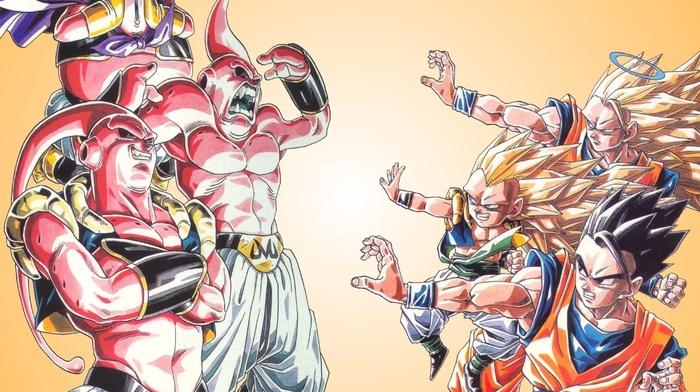 Super Saiyan, Gohan, Son Goku, Majin Buu, Dragon Ball, Gotenks
