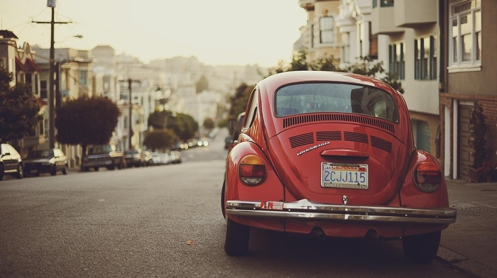 Volkswagen Beetle, vintage, photography, car