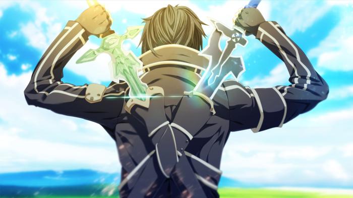 sword art online, anime boys, sword, Kirigaya Kazuto