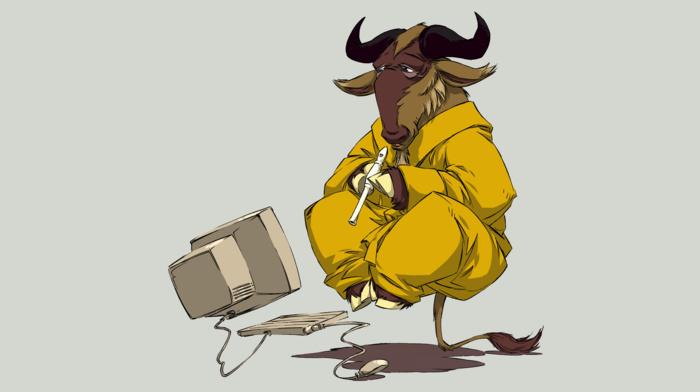 Linux, animals, GNU