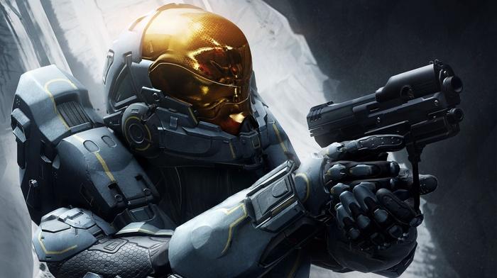 video games, Halo 5, gun, Kelly, 087, soldier, futuristic, Halo