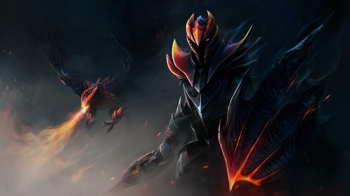Dota 2, dragon, fantasy art, Dragon Knight