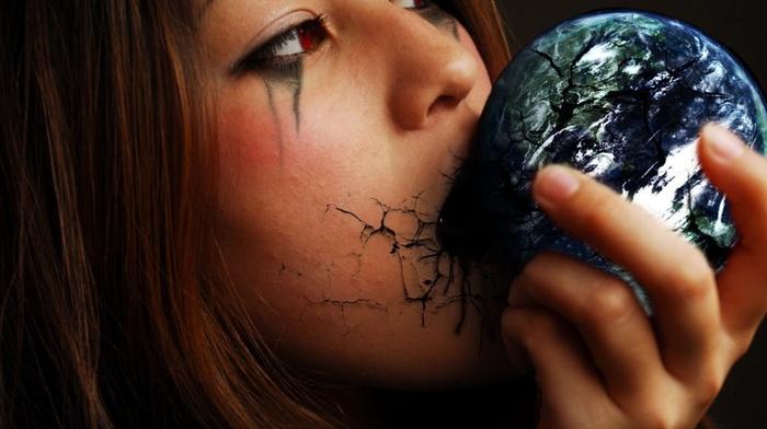 Earth, fantasy art, model, girl, graphic design