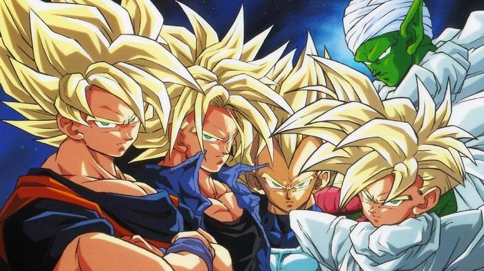 Piccolo, Trunks character, Vegeta, Dragon Ball Z, Gohan, Super Saiyan