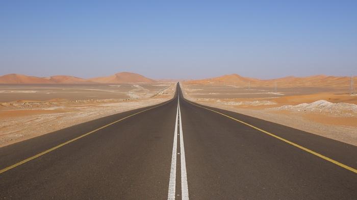 landscape, road, highway
