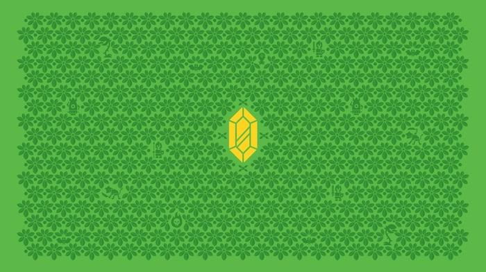 rupee, The Legend of Zelda, video games, minimalism