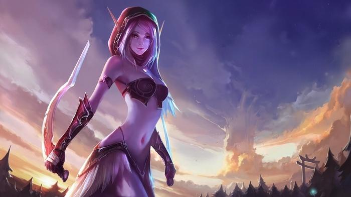 elves, fantasy art, World of Warcraft