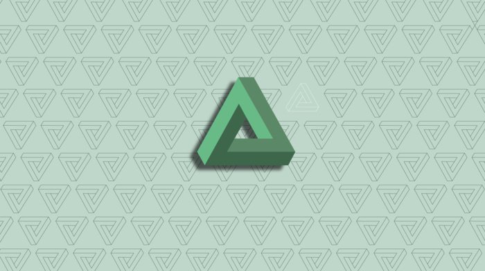 abstract, Penrose triangle, geometry, minimalism