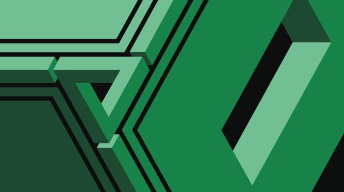 minimalism, geometry, abstract, Penrose triangle