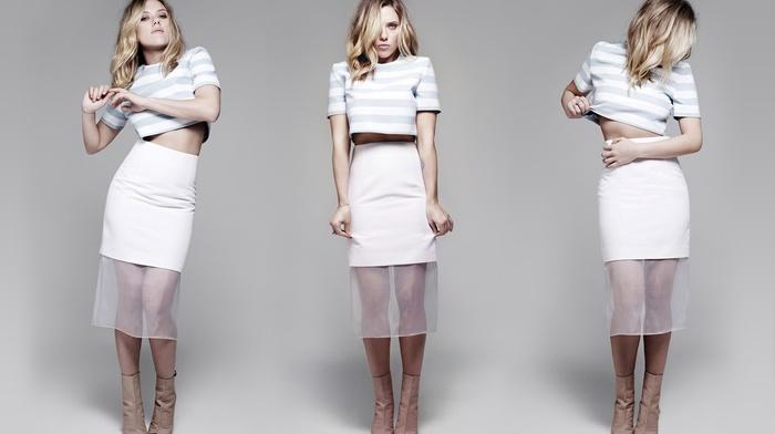 simple background, Scarlett Johansson, blonde, girl, actress, celebrity
