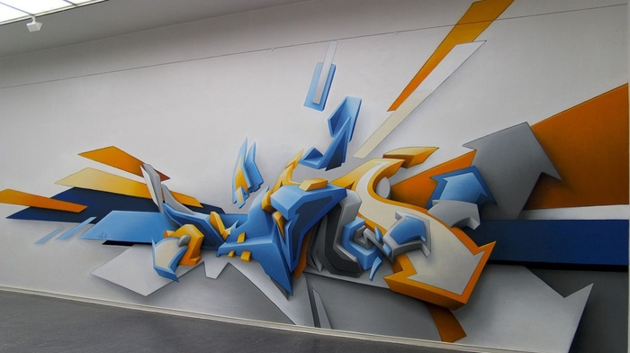 graphic design, abstract, 3D, graffiti, Daim