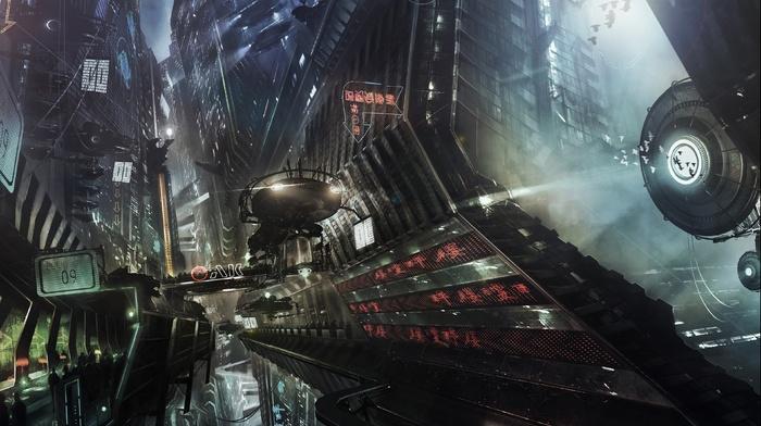 science fiction, artwork, digital art, city, futuristic