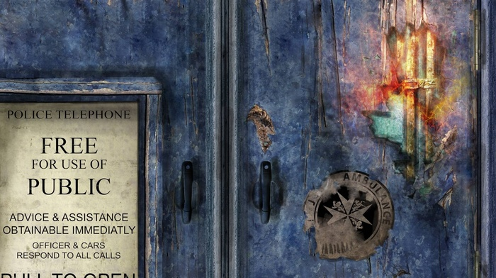 Doctor Who, tardis, science fiction, digital art, fan art, artwork, texture