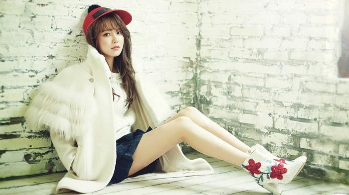 skirt, Choi Sooyoung, legs, Asian, high heels, girl, auburn hair, Korean, boots, SNSD