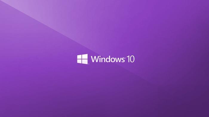 minimalism, Windows 10, window, logo