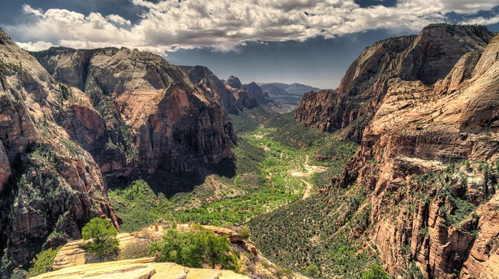 cliff, sunlight, rock, canyon, landscape, mountain, shadow, nature, valley