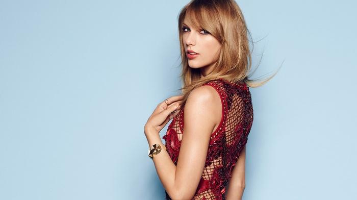 dress, Taylor Swift, singer, girl, simple background, celebrity