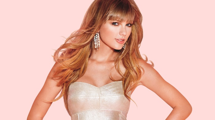 girl, simple background, celebrity, singer, Taylor Swift