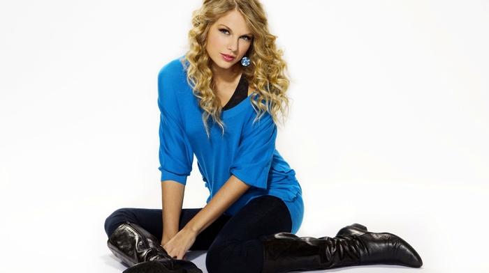 celebrity, singer, girl, simple background, Taylor Swift