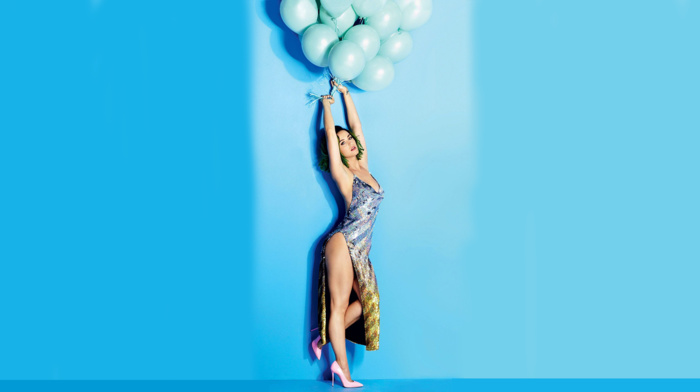 legs, skirt, green hair, Katy Perry