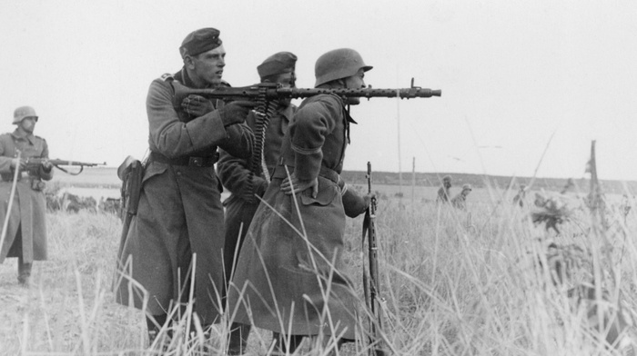 war, World War II, monochrome, army, soldier