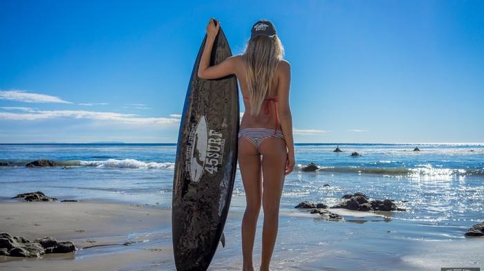 surfboards, legs, beach, swimwear, sand, model, girl, blonde, water