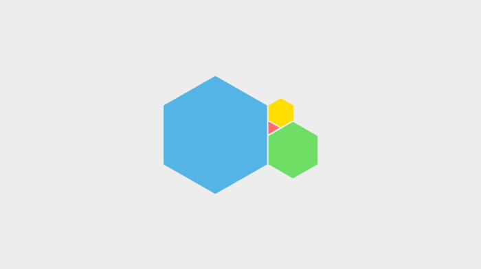 triangle, minimalism, white background, hexagon, geometry, simple, simple background, digital art