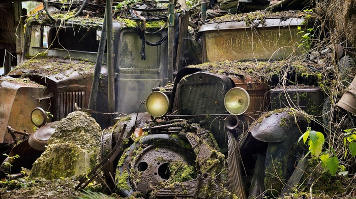 rust, vehicle, wreck
