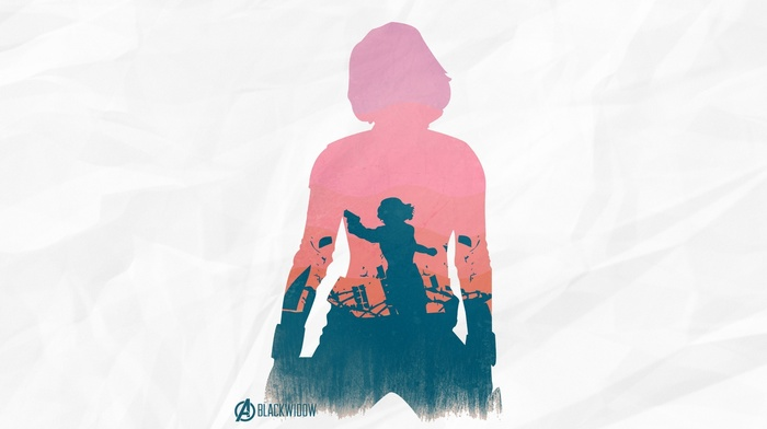silhouette, The Avengers, Black Widow