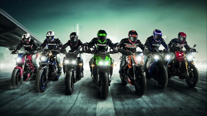 vehicle, artwork, KTM Duke 125, KTM, racing, motorcycle, Kawasaki, Ducati, motorcyclist, Kawasaki Z800, sport, Yamaha YZF, Yamaha, Bering